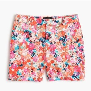 J. Crew Brushstroke Marigold Shorts
